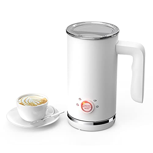 Vamolan Milk Frother, Electric Milk Frother and Steamer, 4 in 1 Large Capacity (5.1 oz/10.1 oz) Automatic Cold Hot Milk Frother & Warmer, Double Wall Coffee Frother Milk Heater