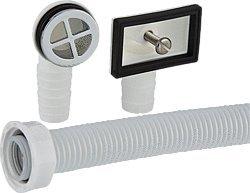 Spülen Universal Überlaufset für Ablaufventile mit 25 mm