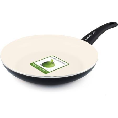 "GreenLife Healthy Ceramic Non-Stick 10"" Soft-Grip Open Fry Pan, Cream All Purposed"