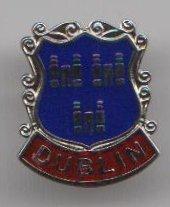 Dublin irische Flagge City Anstecker