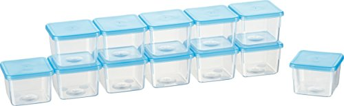 Kigima Mini-Tiefkühldose 0,08l rechteckig 5x5x4 cm 12er Set