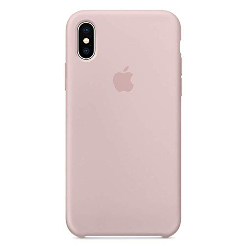 Kekleshell iPhone X/10 Silicone Case, 5.8' Silicone Case Soft Liquid Silicone Case with Soft Microfiber Cloth Lining Cushion (Sand Pink)