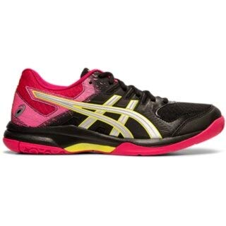 ASICS Gel Rocket 9 Womens Indoor Court Shoe (Black/Silver) (7.5)