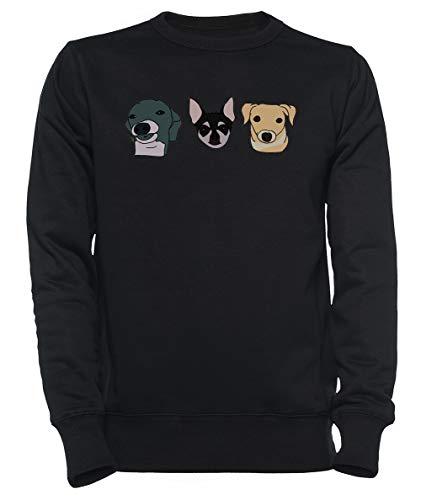 Jennas Honden Dames Mannen Unisex Sweatshirt Trui Zwart Women's Men's Unisex Sweatshirt Jumper Black
