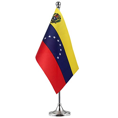 GentleGirl.USA Venezuela Flag Venezuelans Flag Table Flag,Desk Flag,Office Flag,International World Country Flags Banners,Festival Events Celebration,Office Decoration,Desk,Home Decoration