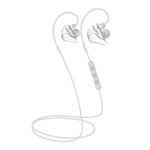 Bluetooth Headset Bluetooth Headphone Wireless Noise Cancelling Stereo Earbuds Foldable Earhook Comfortable Fit Neckband Music Sports Earphones