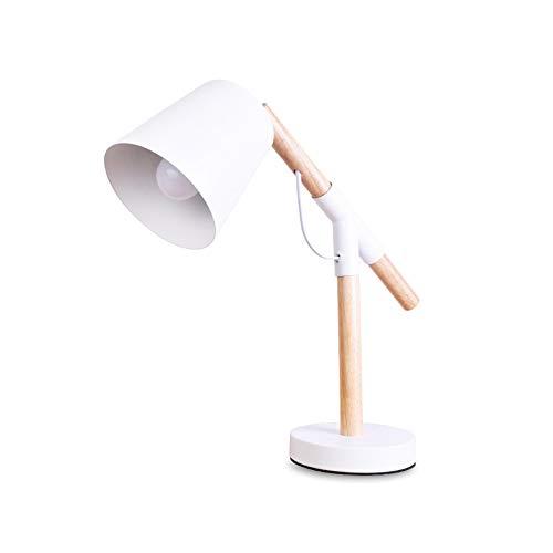 YU-K eenvoudige tabel van de lamp slaapkamer bed creatieve persoonlijkheid woonhuis bureau kinderoog licht, 14 x 40 cm, witte zuilen, warm licht met ledverlichting
