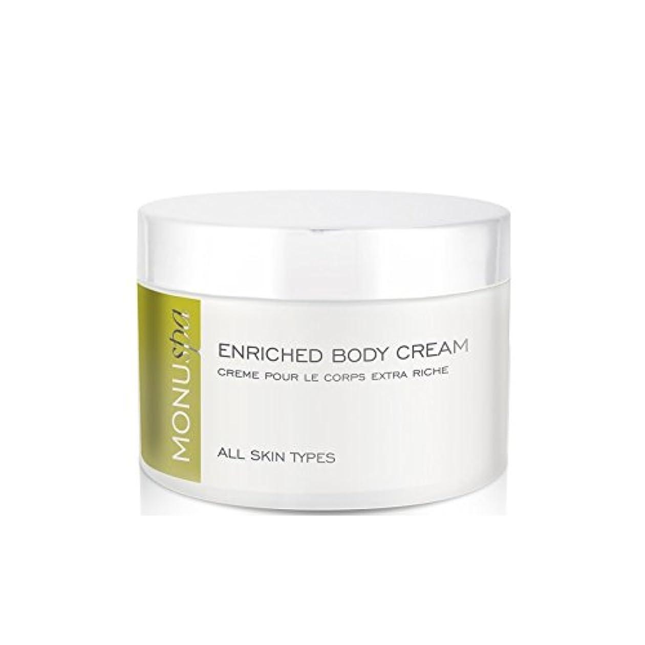 鳴り響くコンサルタント徴収濃縮ボディクリーム200ミリリットル x2 - MONUspa Enriched Body Cream 200ml (Pack of 2) [並行輸入品]
