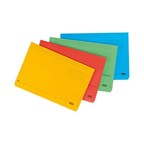 Elba Bright Manila-Dokumententasche 285 g/m² 32 mm Folio-Format 25 Stück farblich sortiert