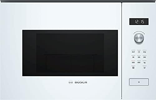 Bosch BFL524MW0 Serie 6 Einbau-Mikrowelle / 900 W / 20 L / Drehteller 25,5 cm / Türanschlag Links / Weiß / AutoPilot 7 / Elektronische Türöffnung