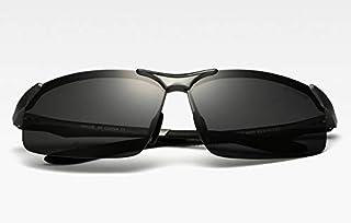 نظارة شمسية بعدسات كاجوال واطار معدني (لون اسود)