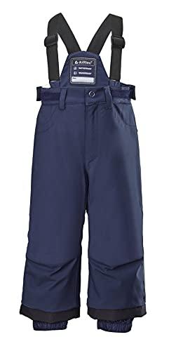 Killtec KW 91 MNS Ski PNTS Pantaloni Funzionali da Neve con Bretelle e paraneve, Blu Navy Scuro, 116 Bambino