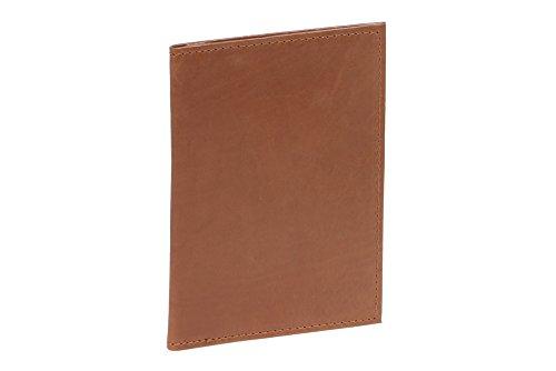 LEAS Ausweismappe- & -hülle mit 2 Sichtfenstern Echt-Leder, cognac Card-Collection
