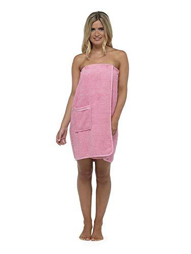 CityComfort Toalla para Mujer 100% algodón paño de SPA Suave y Muy Absorbente Sarong de baño Playa (M/L, Rosa)