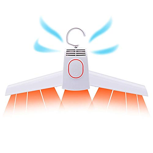 HYZXK Percha de Secado eléctrica, Secadora portátil de Ropa y Zapatos Plegable, Secadora de Aire frío Caliente y frío, tendedero Calefactor para Ropa de Secado rápido
