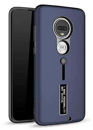 Bounceback Shock Proof Back Cover Case Designed for Motorola Moto G7 - Matte Blue
