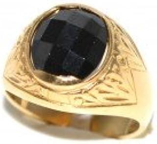efd9b6e02a8c8a Anello uomo oro giallo 18 k con zaffiro nero ovale peso 11,10 B4379