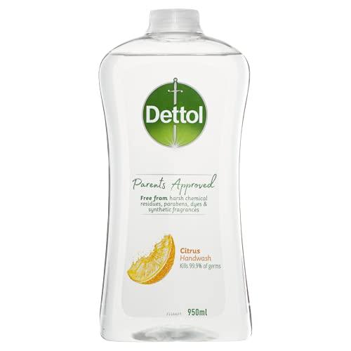 Dettol Parents Approved Antibacterial Liquid Hand Wash Refill Citrus 950 ml