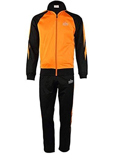 Active Zippper Long Sleeve Tracksuit Set for Men/Mens 2 Piece Jacket & Pants Slim Fit Jogging Track Suit