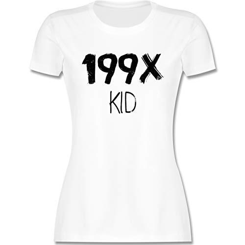 Statement - 199X Kid - S - Weiß - 90s Shirt - L191 - Tailliertes Tshirt für Damen und Frauen T-Shirt