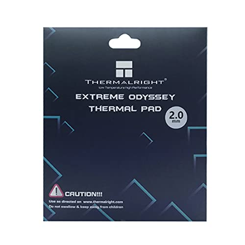 Thermalright Thermal Pad 12.8 W/mK, 120x120x2mm, Non Conductive Heat Resistance High Temperature Resistance, Silicone Thermal Pads for Laptop Heatsink/GPU/CPU/LED Cooler (2mm)