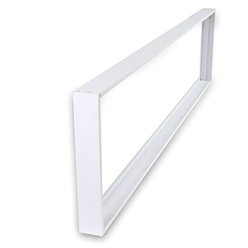 LED Panel Rahmen Aufputz 120x30 LED Panel Deckenrahmen für Wand- und Deckenmontage Aluminium Weiß