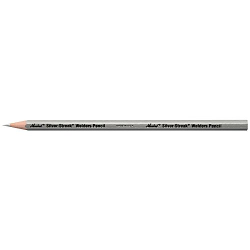 Markal 96101 Silver Streak Welders Pencil, Silver (Pack of 12)