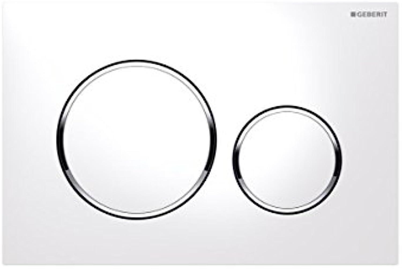 Geberit 115.882?Series.KJ.1?Sigma 20?Plate White Chrome White