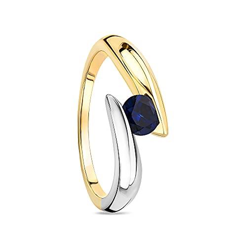 Orovi Mujer 9 k (375) oro bicolor 9 quilates (375) Sapphire