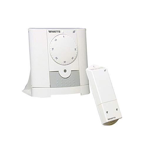 Mi-Heat Watts Vision - Termostato analógico inalámbrico con 1 receptor de montaje en pared