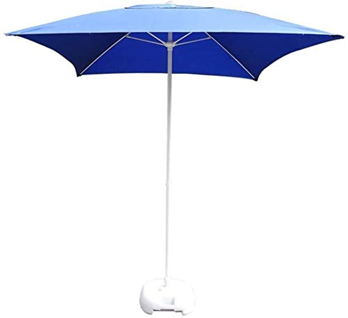 KISNAD Sombrilla Parasol con Ángulo Ajustable 2m 6.56 pies spuare Sombrilla for el Patio, jardín de Mercado Parasoles por la Playa de la Piscina del Patio Trasero, protección UV 50+, sin Base