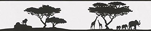A.S. Création 962351 Bordüre African savanna, schwarz, weiß