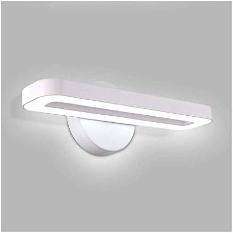 Spiegel Frontleuchte LED Badezimmer Make-Up Lampe Wohnzimmer Schlafzimmer Wandleuchte Nachttischlampe (Farbe   Weies Licht-A)