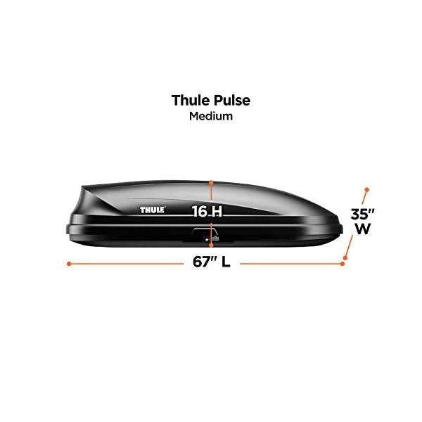 Thule Pulse Rooftop Cargo Box Medium Tesla Store Buy Tesla Car Accessories Online Merch Store