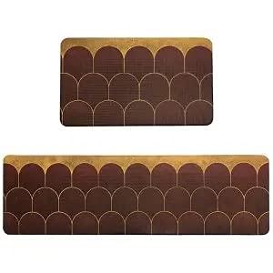 HLXX Alfombrilla de Cocina de Estilo Moderno, Felpudo de Entrada, Alfombrilla para el Suelo del Dormitorio, Alfombra para el área del Pasillo, alfombras Antideslizantes Lavables A3 40x120cm