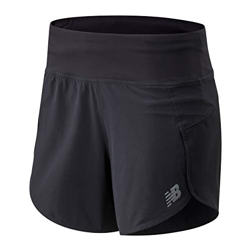 New Balance Women's Impact 5 Inch Short, Black 20, L