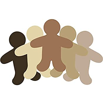 50 Pieces Person Multicultural Creative Cut-Outs People Shape Paper Cutout for Children to Design and Decorate Craft Group Projects Unity in Diversity Kids  Craft Projects for School/Home 5.5 Inch