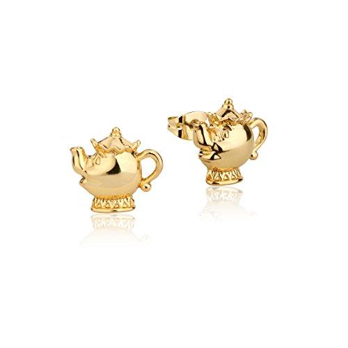 """Ohrringe von Disney Couture, Modell: Madame Pottine, die Teekanne aus """"Die Schöne und das Biest"""", vergoldet"""
