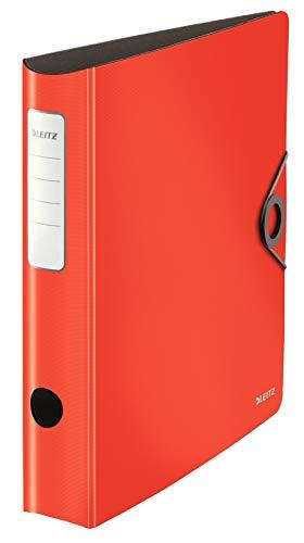 Leitz 10481020 Qualitäts-Ordner 180° Ringbuch,rot