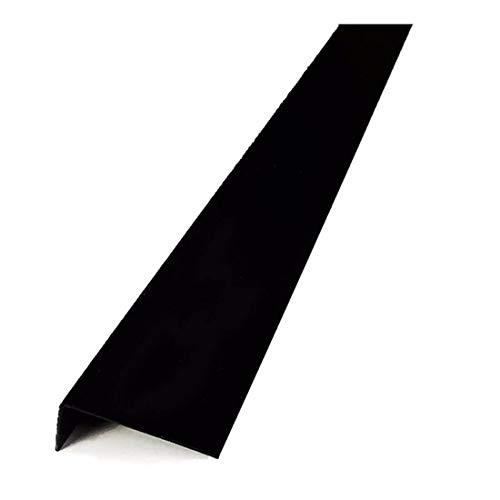 PVC Winkel ungleichschenklig schwarz 1 Meter Winkelprofile Kunststoffleiste Eckschutzleiste