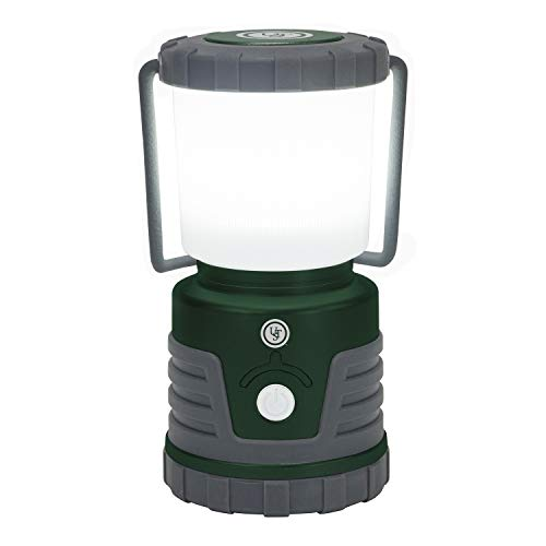 ust 30-Day Duro 1000 Lumen LED Lantern with Lifetime LED Bulbs, Glow in The Dark Power Button and Hook for Camping, Hiking, Emergency and Outdoor Survival (20-12537), One Size