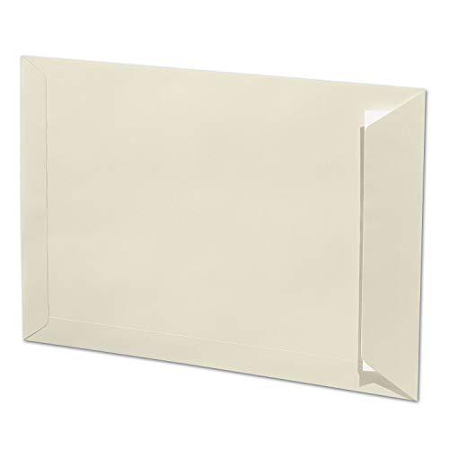 ARTOZ 25x DIN C4 enveloppen met kleefmiddel - hoogste kwaliteit - 229 x 324 mm - chamois (crème) enveloppen zonder venster - Serie 1001