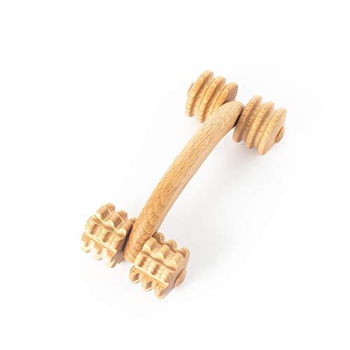 Tuuli Accessories Rullo Massaggiatore Massaggio Schiena Cervicale Spalle Piedi Corpo Muscolare Legno 18 x 7 x 6 cm