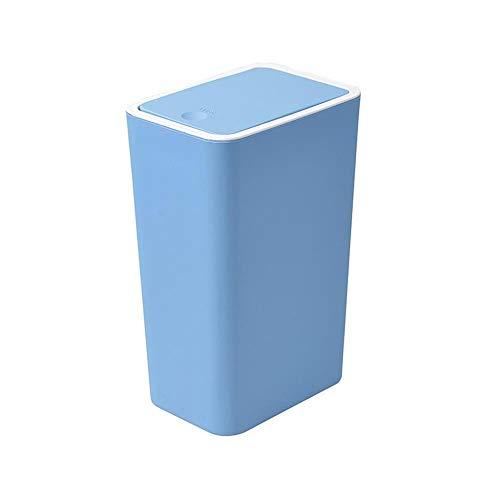 SOME Cubos de basura Basura y reciclaje Papelera creativa for el hogar, basura de la cocina y el inodoro del hotel de la sala de estar, papelera grande de la oficina (Color : Blue)