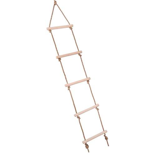 Fenteer Strickleiter Kletterleiter mit 5 Prossen für Kinder und Erwachsene, belastbar bis 300 kg