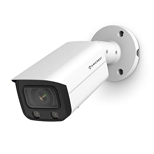 Amcrest NightColor AI UltraHD PoE Bullet Camera w/ 66ft Full NightColor, Two-Way Audio, 256GB MicroSD Storage (Sold Separately), Amcrest Cloud, 113° FOV, 2.8mm Lens, 4MP@30fps (IP4M-1046EW-AI)