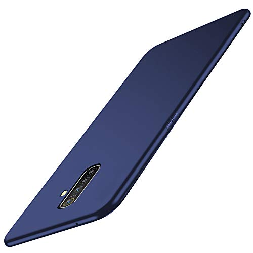 TheGiftKart Protective Slim Flexible Shockproof Soft Back Case Cover with Camera Protection Bump for Realme X2 Pro (Matte Blue) [ Launch Offer ]
