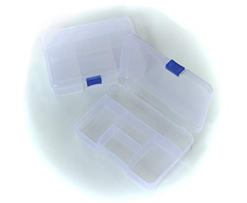 ALL in ONE Clear Plastic Storage Container with Slide Lock14.5x10x3.5cm