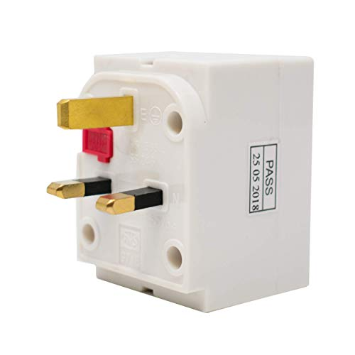 3-Way Surge Protected UK Plug Socket Multi-Adaptor / 13A Fused/Conforms To BS1363 / Max Load 13A/250V / Ideal for Indoor Applications/iCHOOSE