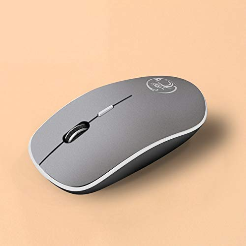 Sevenplusone 8-toetsen Vier-speed Verstelbare Draadloze GamingMouse G-1600 Plus 2.4Ghz 1600 DPI Ergonomische geruisloze USB Mute Draadloze Muis voor Desktop Computers/Laptops, met USB-C/Type-C, Grijs